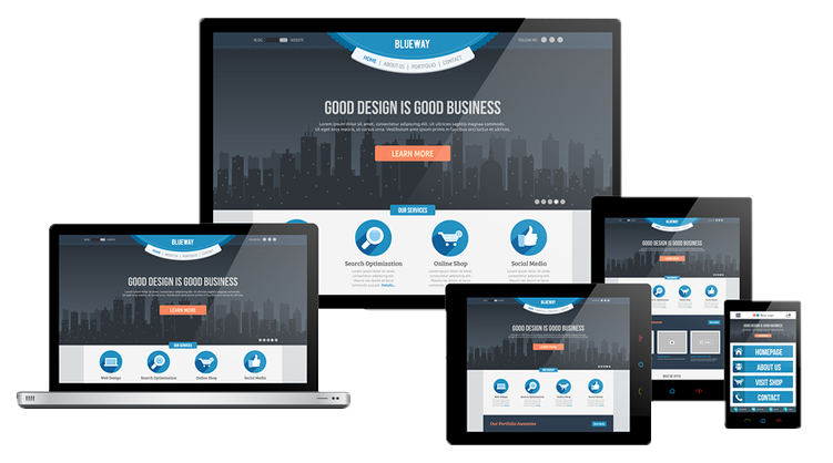 professional looking websites on multiple screens