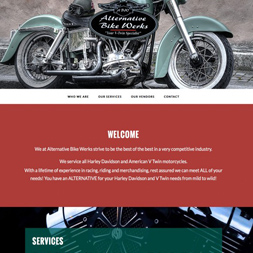 motorcycle company website screenshot