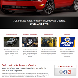 bodyshop website design in fayetteville ga