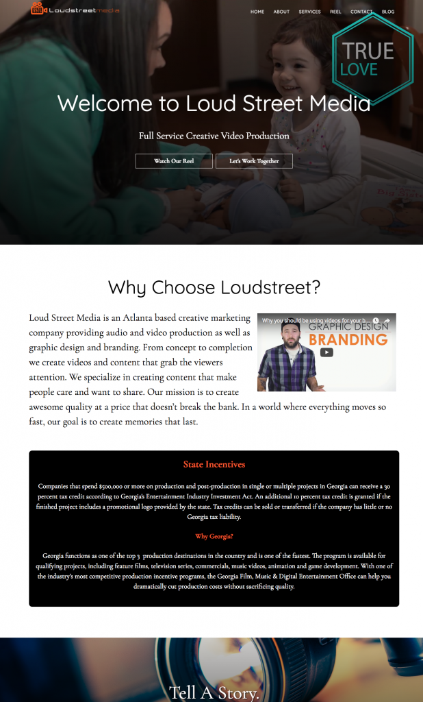 web design for video production company