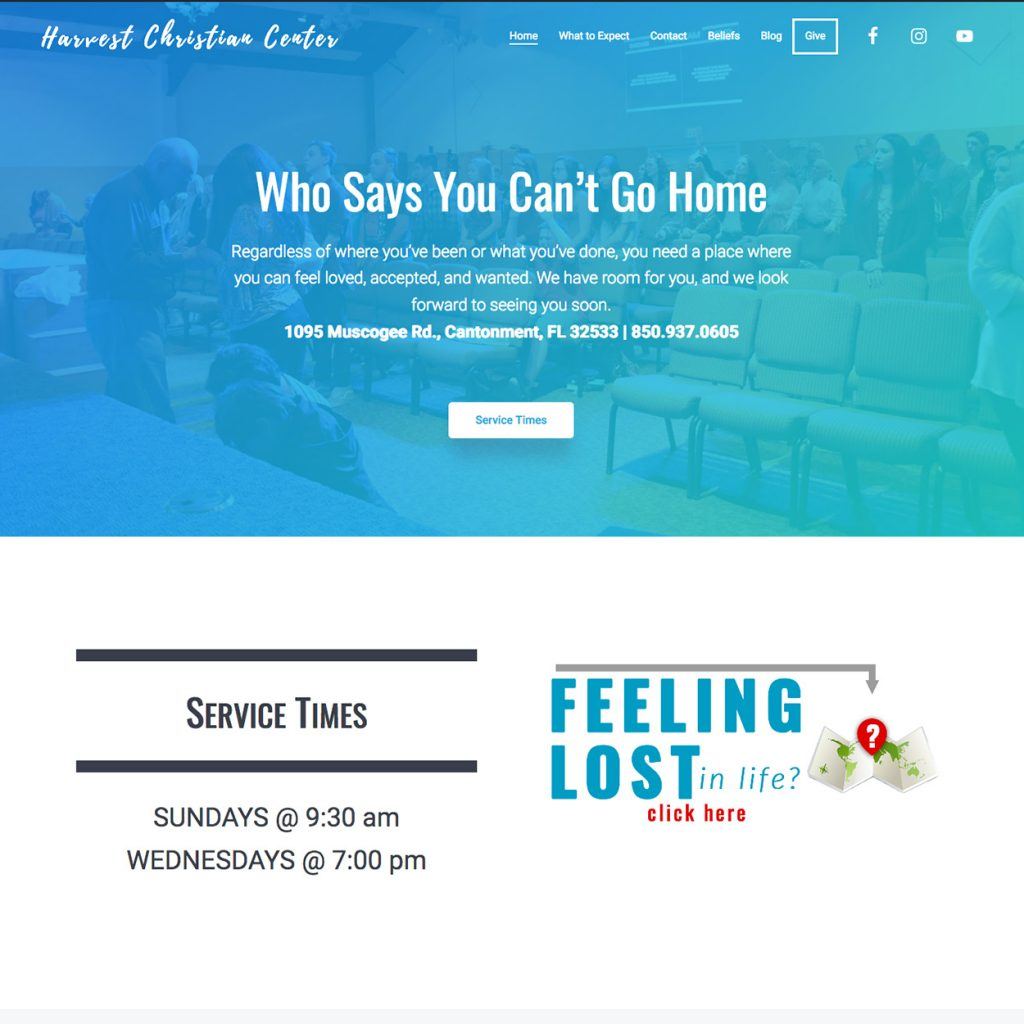 church website design near pensacola florida