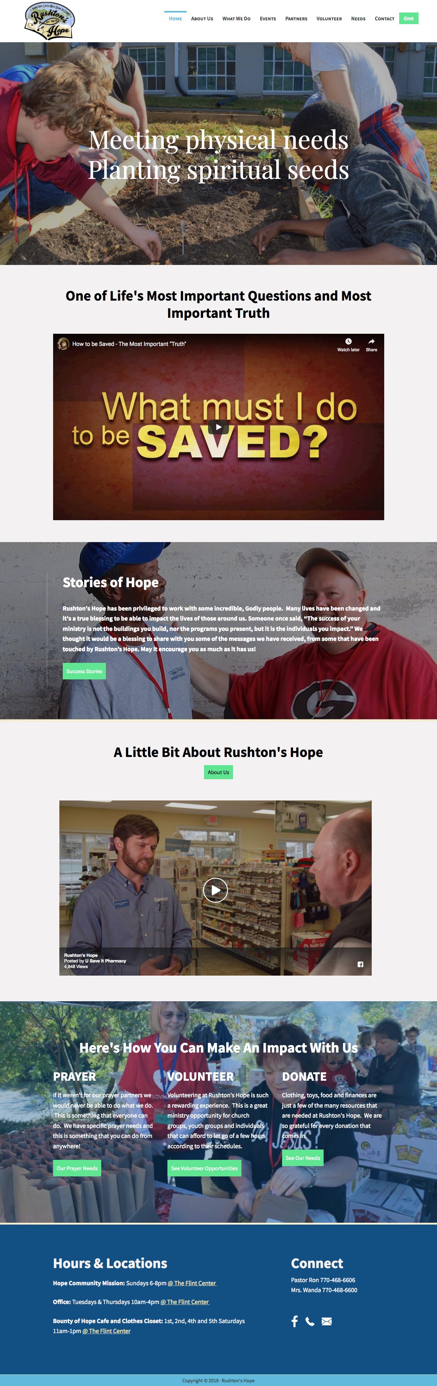 rushtons hope website